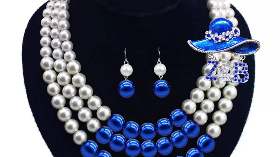 Zeta Necklace Set with Hat