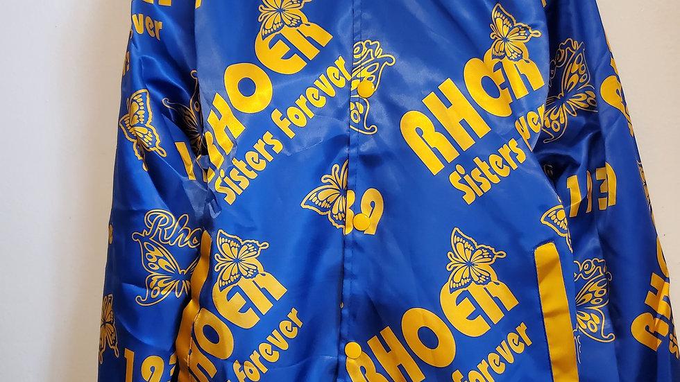 Rhoers Print Satin Jacket