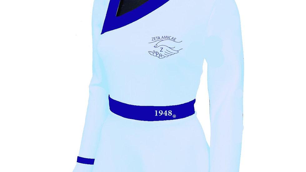 Amicae Peplum Long Sleeve Shirt