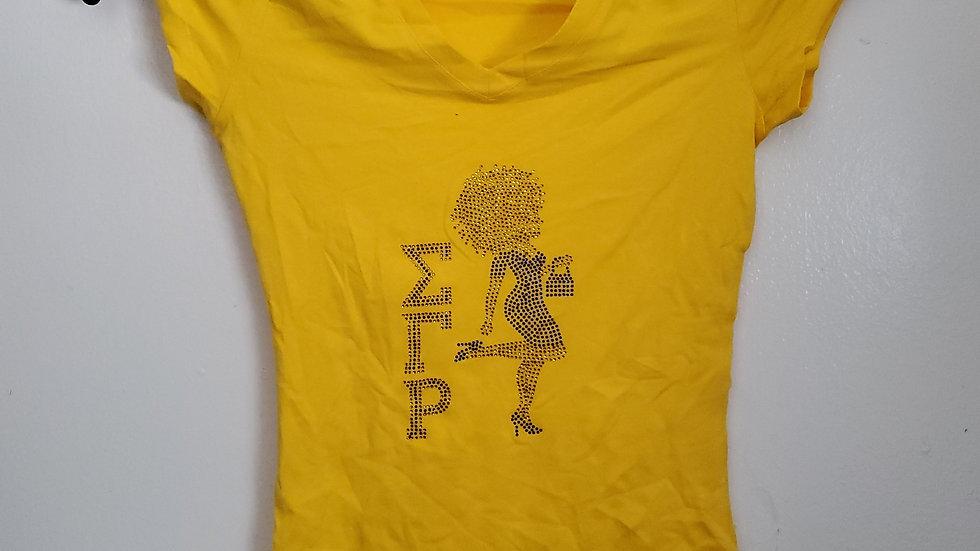 Sgrho Mini Lady Bling Gold Shirt