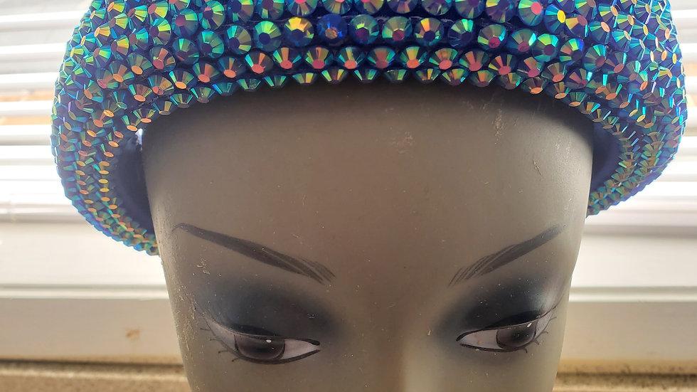 Blue Bling Headband