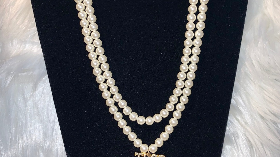 TLOD two strand white pearl necklace