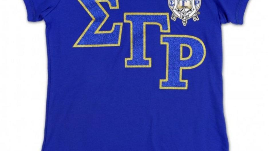 Sgrho Slanted letter Glitter Tshirt