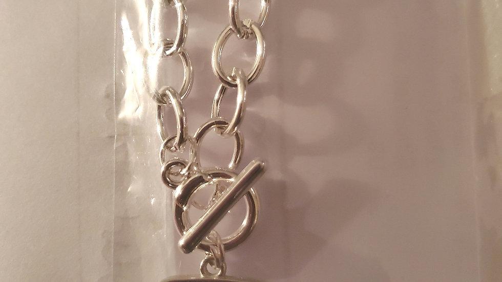 Zeta Dove Square Chain Necklace