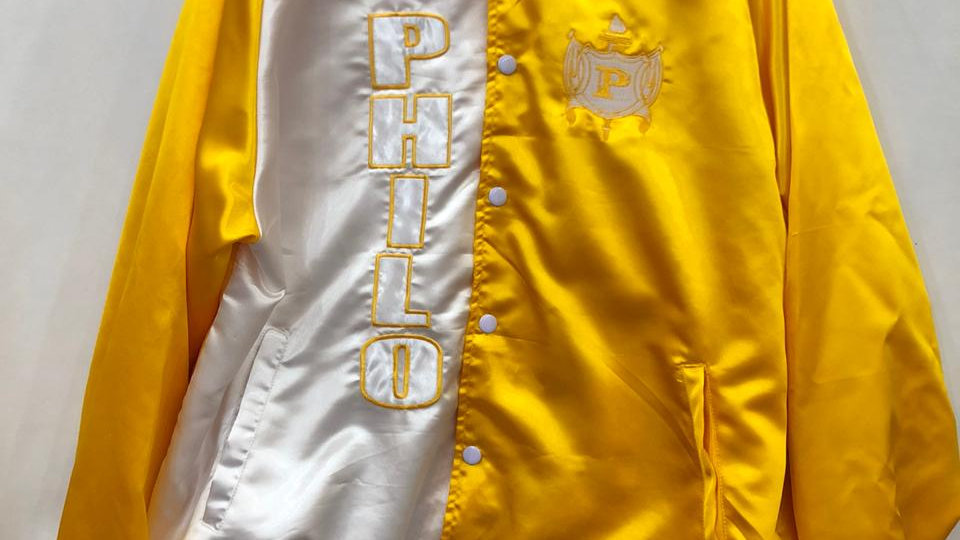 Philo White/Gold Satin Jacket
