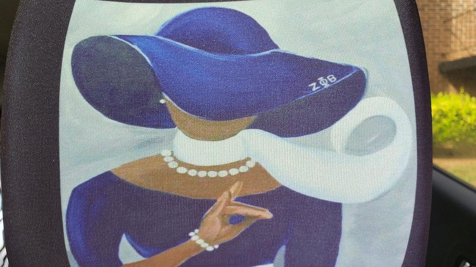 Zeta Lady 2pc Headrest Cover