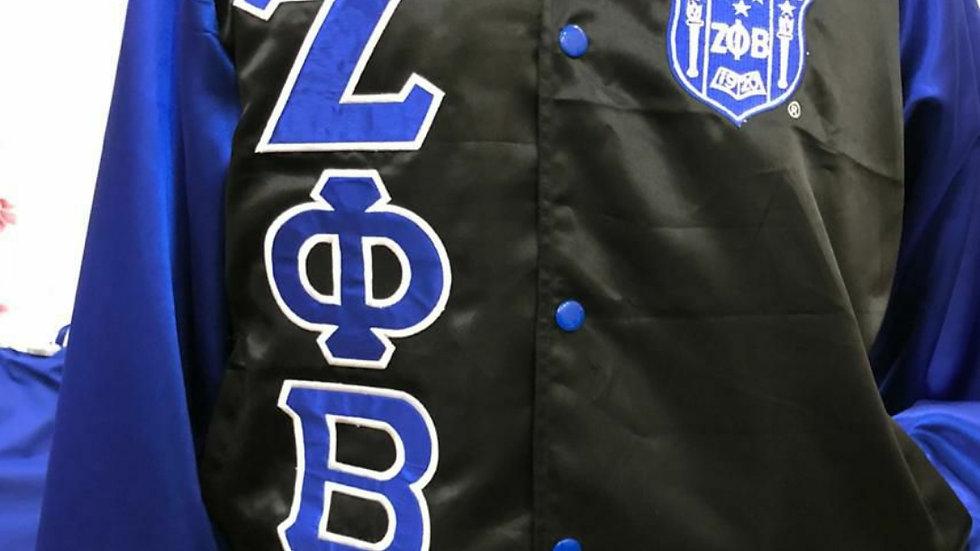 Zeta Black Satin Jacket