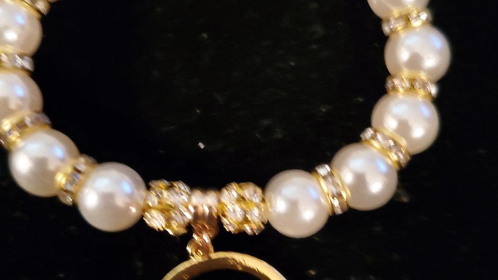 Sgrho Bling letter Pearl Bracelet