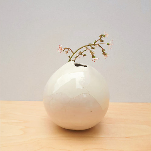White & Pastel Purple Bud Vase