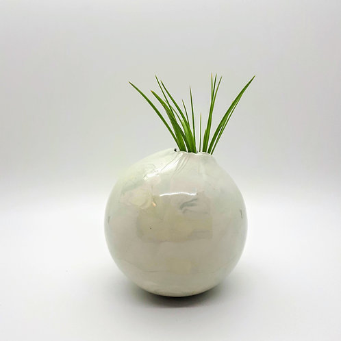Pale Green Swirl Vase