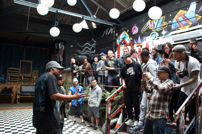KRS One speaking to artists in Manchester