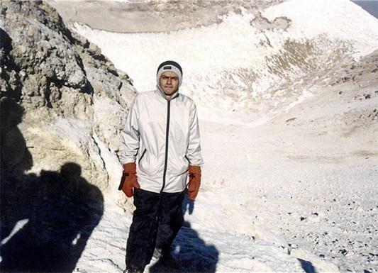 On top of the Damavand summit