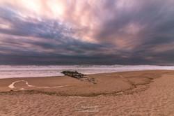 Anoitecer na praia de Espinho