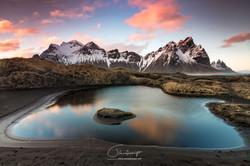 Montanha Vestrahorn na Islândia
