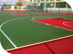 OUTDOOR TENNIS AND BASKETBALL COURTS