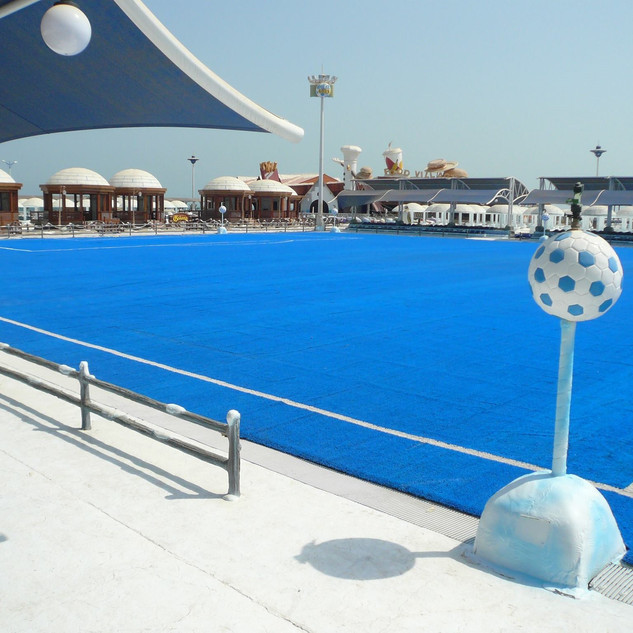 Blue Football Pitch