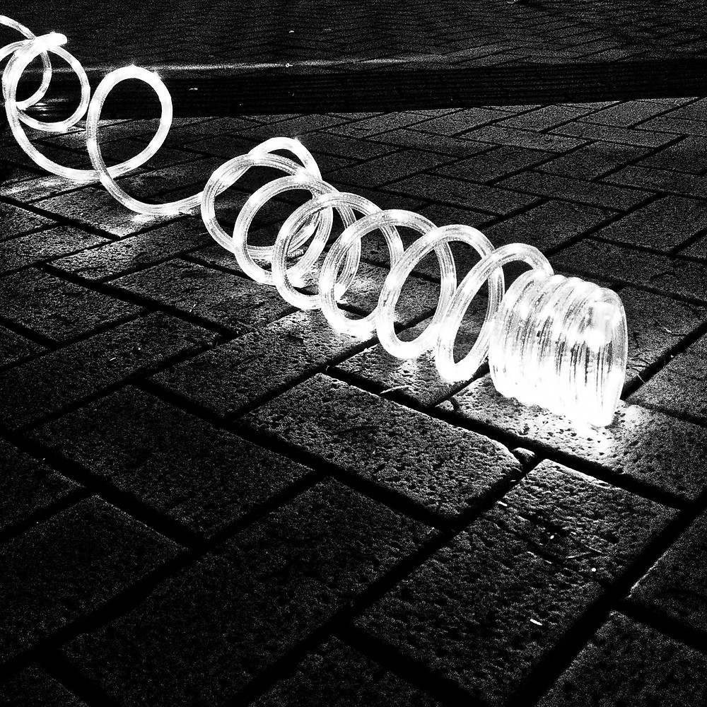 led street lights on a Birmingham street
