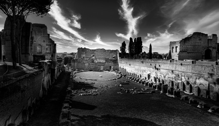 The Forum Rome - Fine art black and white photograph