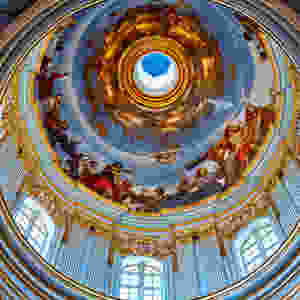 The main dome in S Paul's cathedral Mdina