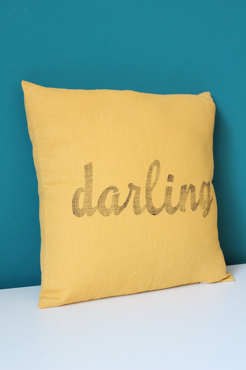Coussin en lin darling