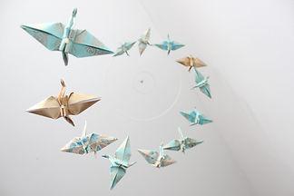 mobile bébé origami