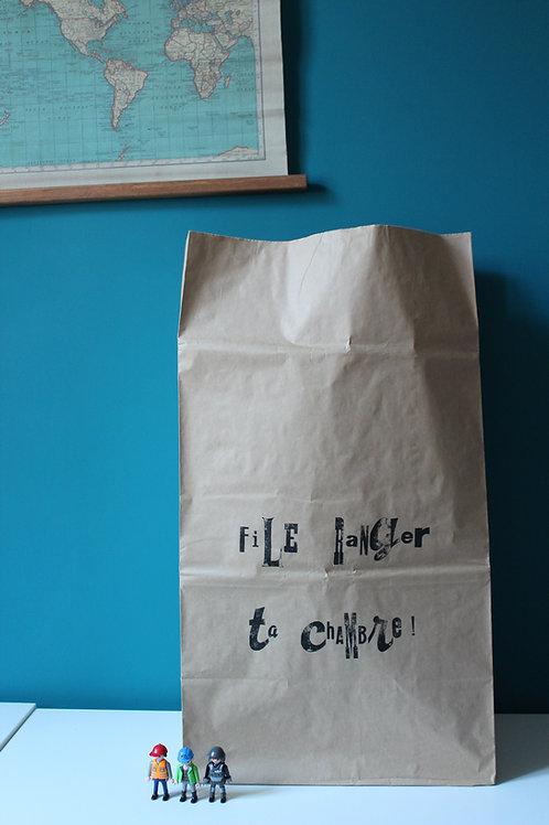 """Paper bag """"File ranger ta chambre"""""""