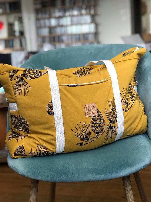 Grand sac cabas zippé - sac à langer