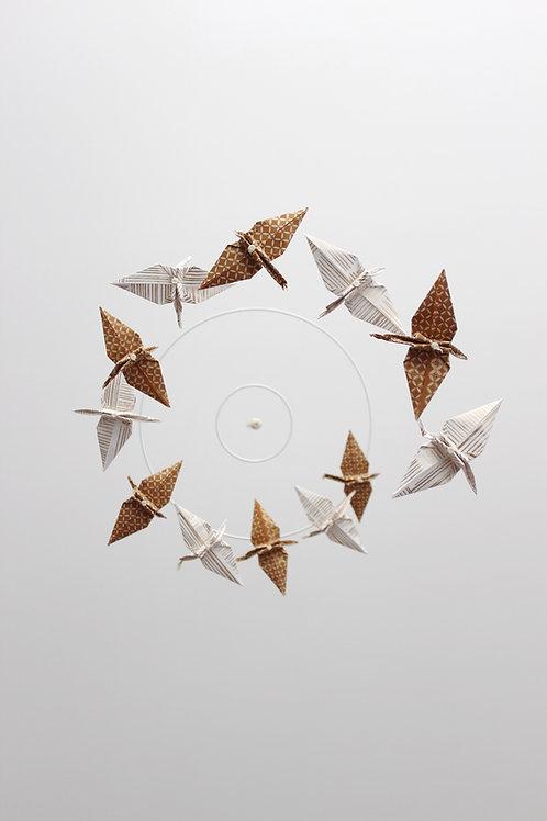 Mobile origami grande spirale