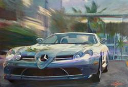 miami lights Oil on Canvas