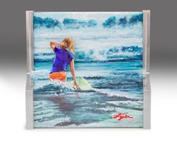 Surfer Girl Chasing Waves