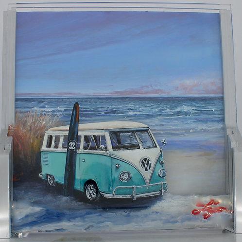 Surfing Vintage VW Van