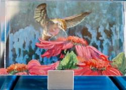 Humming Birds and Hot Pink Gerbera_edited