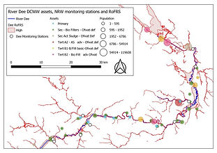 Full River Dee catchment and DCWW asset locations/capacity
