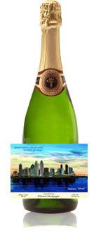"""""""San Diego Skyline"""" Almond Champagne"""