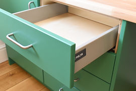 Soft close drawer birchplywood fitted office units