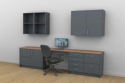 Anthracite grey Home office