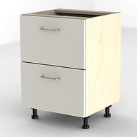 White filing cabinet, fitted office unit for home office or commercial use.