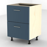 Blue office filing cabinet