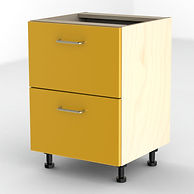 Yellow filing cabinet