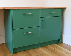 Fitted home office filing cabinet and cupboard