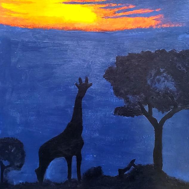 Giraffe in Sunset