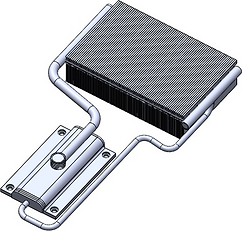 アルミ・ループ型サーマルサイフォン