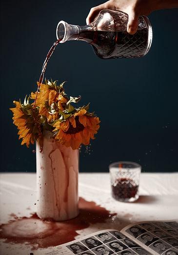sunflowers, wine, yearbook