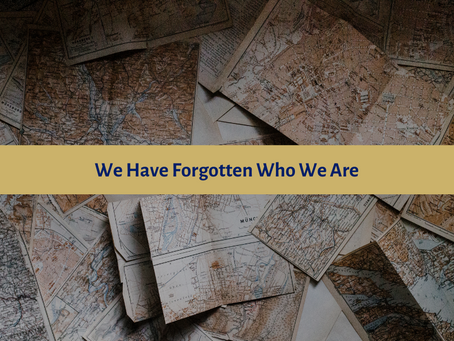 We Have Forgotten Who We Are