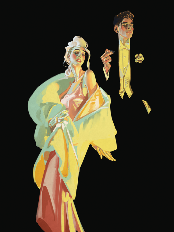 Leyendecker master study with original character