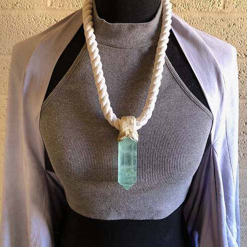 ROPE LOVE 2 ~ FLUORITE ROPE NECKLACE