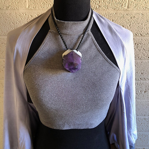 LIMITLESS ~ FACETED AMETHYST POINT NECKLACE