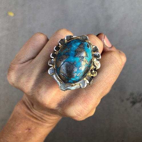 SIZE 7.5 / TURQUOISE RING