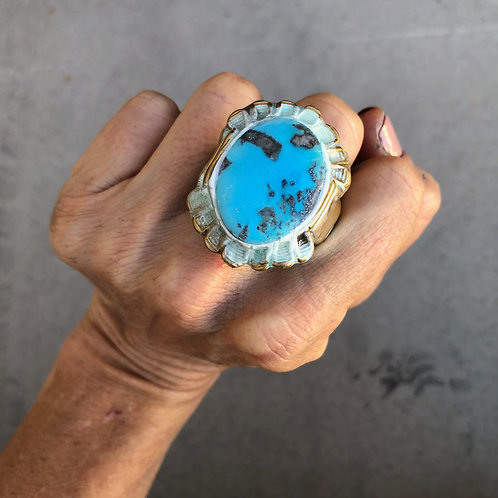 SIZE 9 / TURQUOISE RING