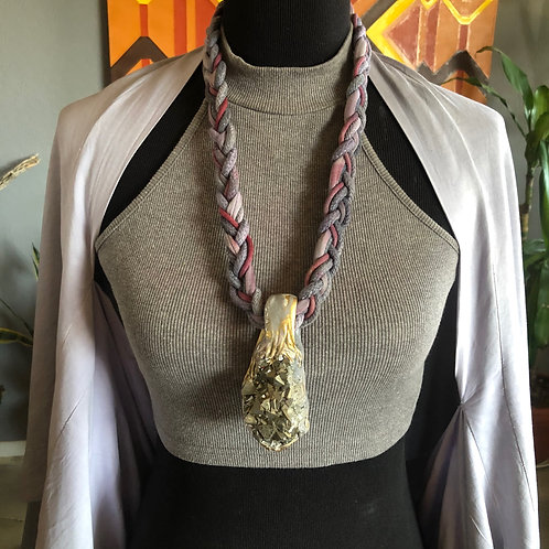 BARBET ~ PYRITE / ROB JOLIN BRAIDED ROPE NECKLACE